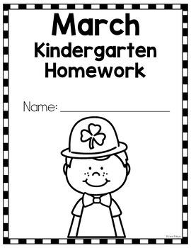 Kindergarten Homework for March