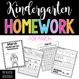 Kindergarten Homework for March