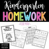 Kindergarten Homework for May
