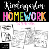 Kindergarten Homework for September