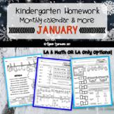 Kindergarten Homework for the month of JANUARY