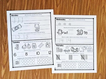 Kindergarten Homework with Weekly Family Games - Editable - 2nd Quarter