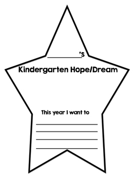 Hopes and Dreams - Kindergarten!