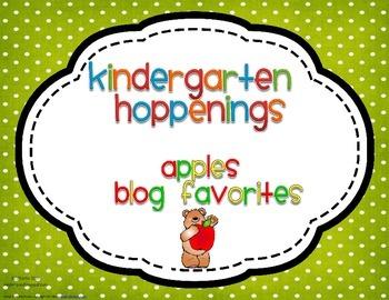 Kindergarten Hoppenings {Apples Blog Favorites}