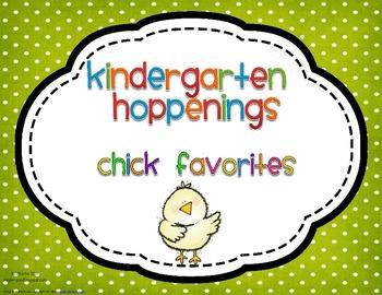 Kindergarten Hoppenings {Chicks Blog Favorites}