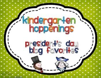 Kindergarten Hoppenings {President's Day Blog Favorites}
