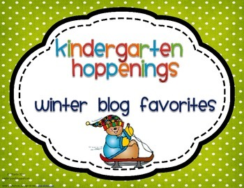 Kindergarten Hoppenings {Winter Blog Favorites}