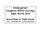 Kindergarten Houghton Mifflin Harcourt Journeys Word Cards