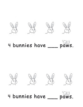 Kindergarten How Many? Bunny Addition Book Set