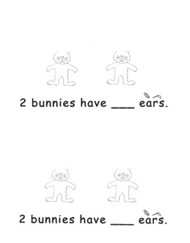 Kindergarten How Many Ears? Bunny Addition Book