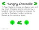 Kindergarten Hungry Crocodile Comparing Numbers Game