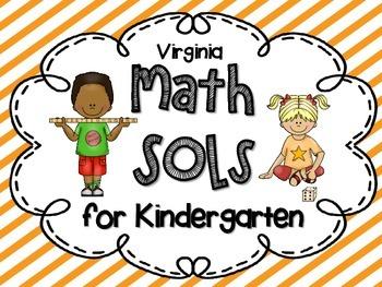 Kindergarten I CAN posters for VA Math SOLs