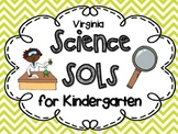 Kindergarten I CAN posters for VA Science SOLs