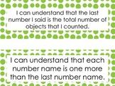 "Kindergarten ""I Can"" Math Statements for CCGPS Display"