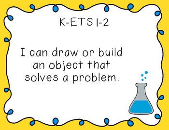"Kindergarten ""I Can"" Printables for NGSS (Next Generation Science Standards)"