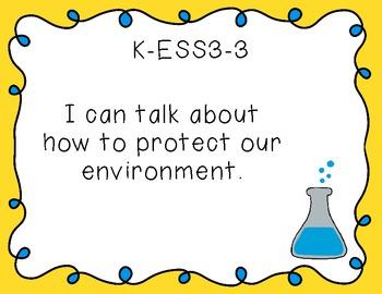 "Kindergarten ""I Can"" Printables for NGSS (Next Generation Science Standards)"