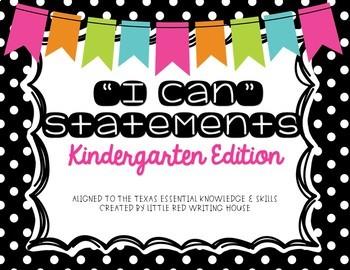 "Kindergarten ""I Can"" Statements"