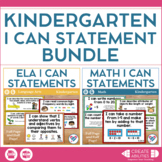 Kindergarten I Can Statements Bundle