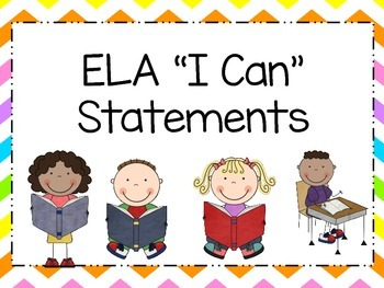 Kindergarten I Can Statements  Combo  - Indiana College and Career Standards