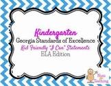 Kindergarten I Can Statements - ELA Edition