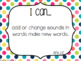 "Kindergarten ""I Can"" Statements: ELA - Rainbow"