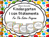 Kindergarten I Can Statements For The Entire Program - Ontario Aligned