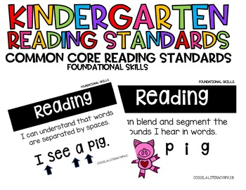 Kindergarten I Can Statements: Foundational Skills and Writing