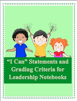 "Kindergarten ""I Can"" Statements *FREEBIE* - common core aligned"