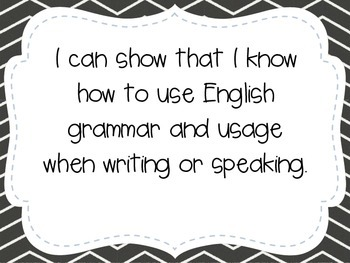 "Kindergarten ""I Can"" Statements LAFS & Common Core Language"