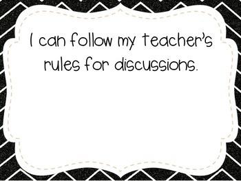 "Kindergarten ""I Can"" Statements LAFS & Common Core Speaking & Listening"