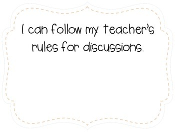 "Kindergarten ""I Can"" Statements LAFS & Common Core Speaking & Listening Plain"