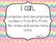 "Kindergarten ""I Can"" Statements: Math - Rainbow"