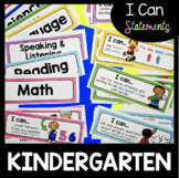 Kindergarten I Can Statements - Math and ELA Assessment Checklists - Posters