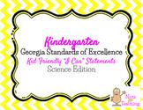 Kindergarten I Can Statements - Science Edition