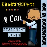 Kindergarten I Can Statements - Science and Social Studies Standards - Posters