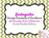 Kindergarten I Can Statements - Social Studies Edition