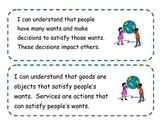 Kindergarten I Can Statements for Ohio's Revised Social Studies Standards