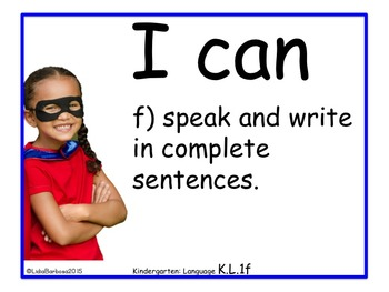 Kindergarten  I can Common Core Posters Bundle in Photos Edition