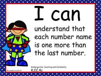 Kindergarten  I can Common Core Posters Bundle in Polka Dots Edition
