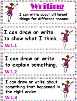 """Kindergarten """"I can…"""" Statements for ELA & Math (1/4 page) + Bonuses!"""