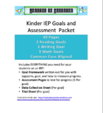 Kindergarten IEP Goals and Assessment Packet