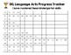 Kindergarten IXL Language Arts Tracker