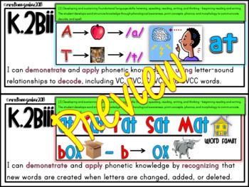 """Kindergarten TEKS """"I CAN"""" Statements BUNDLE: ELA, MATH, SCIENCE, SOCIAL STUDIES"""