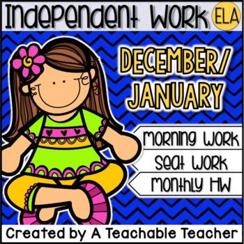 Kindergarten Independent Work - December and January