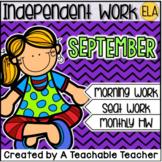 Kindergarten Independent Work - September