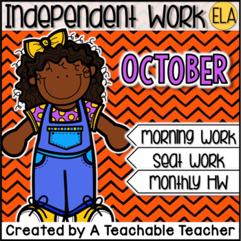 Kindergarten Independent Work - October