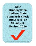 Revised 2016 Kindergarten Indiana State Standards Check Sh