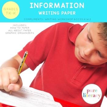 Kindergarten Information Writing Paper Pack Portrait Edition