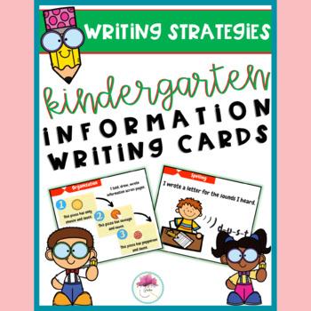 Kindergarten Information Writing Strategy Cards