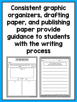 Kindergarten Informational, Narrative, and Opinion Writing Prompts BUNDLE